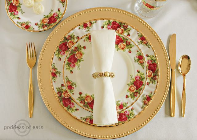Old Country Roses Place Setting & 164 best