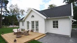 Åhus (numera Båstad) - Ett 1-planshus från Myresjöhus