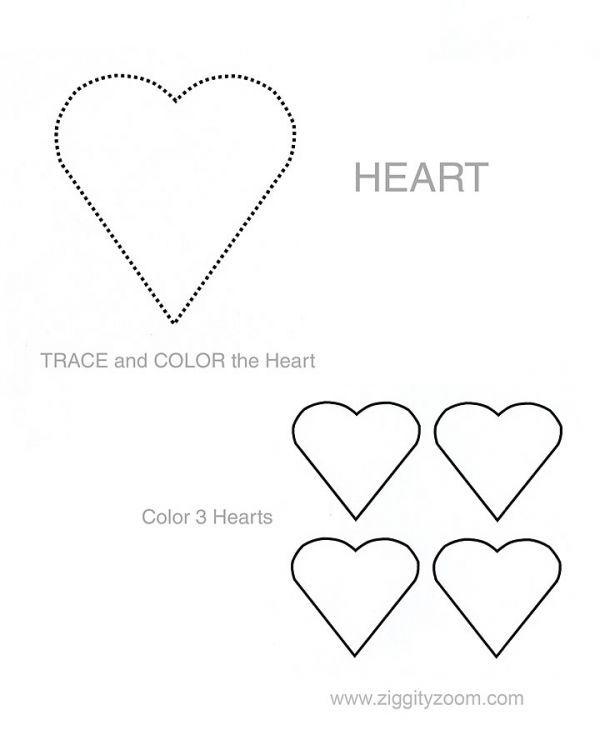Shapes worksheet - Heart