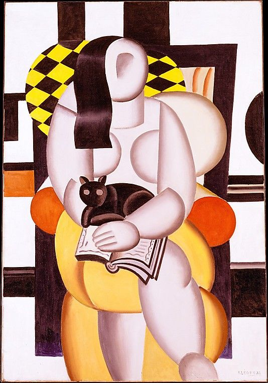 Fernand Léger (French, 1881–1955) - Woman with a Cat, 1921 - Oil on canvas - The Metropolitan Museum of Art, NY