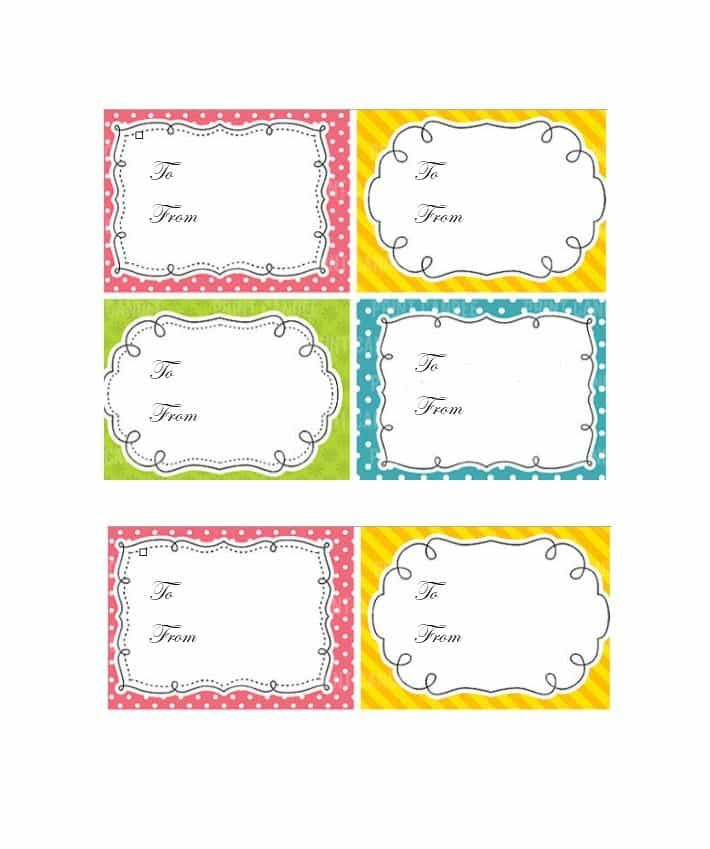 44 Free Printable Gift Tag Templates ᐅ Gift Tag Template Free