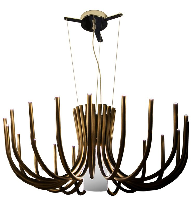 Contardi Lighting   ACAM.001994   Stardust Polished Black Chrome Small  Chandelier