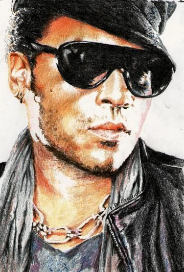 Lenny kravitz italy and colored pencils on pinterest for Lenny kravitz italia