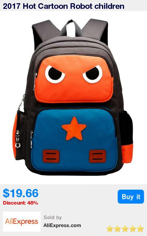 2017 Hot Cartoon Robot children school bags for boys girls kids book bag shoulder backpack Cool Satchel for age 2-10 mochila * Pub Date: 15:42 Sep 20 2017