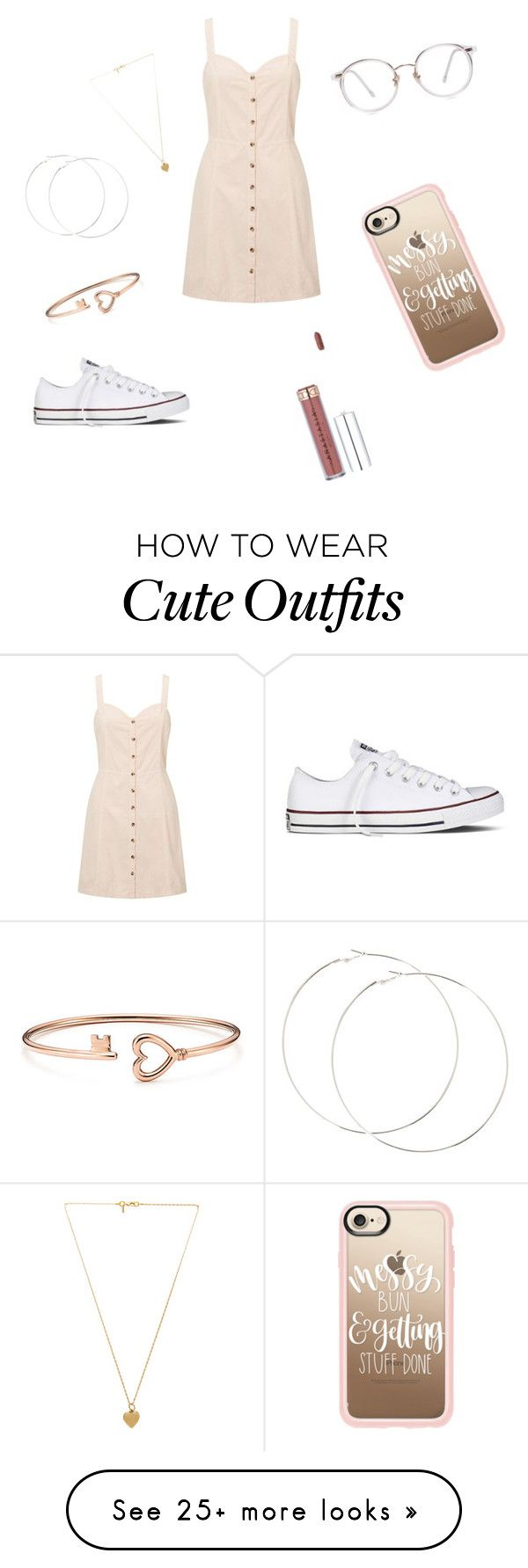 """""""A cute simple outfit"""" by browncheraye on Polyvore featuring Miss Selfridge, Converse, Casetify and Vanessa Mooney"""