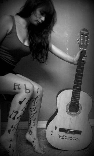 guitarra musical..melena notas