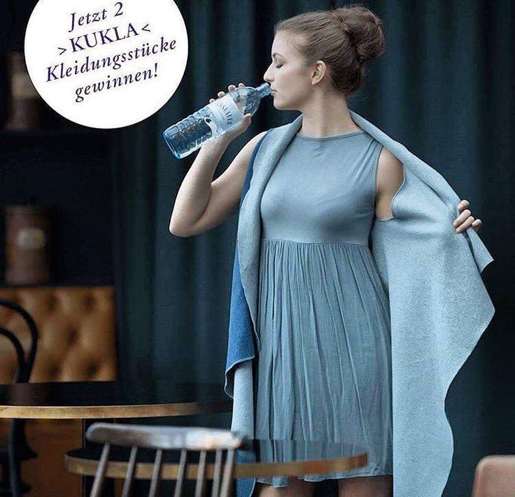 Win a > KUKLA < with Vöslauer! Take a look at @voeslauermineralwasser & participate.  What's your favorite #vöslauer drink?  GOOD LUCK!  #vöslauer #jungbleiben #madamekukla #wrapdress #autumnfashion #mineralwater #austria #stayhealthy #yoga #fit #fashion #fashionblogger
