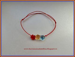 lucru manual adelina: Bratara Tricolor din fire si CRISTALE SWAROVSKI fl...