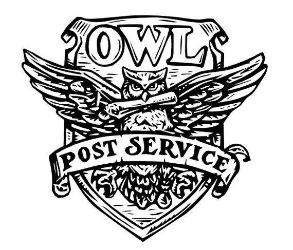 Owl post service, HP car decal, laptop decal, vinyl decal