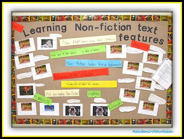 Bulletin Board of Non-Fiction & Informational Text via RainbowsWithinReach