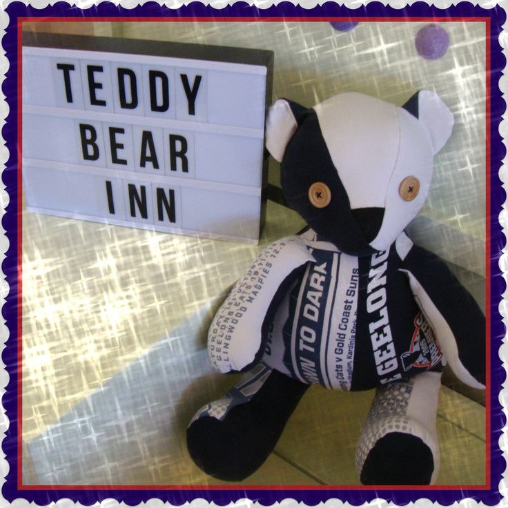 Memory Bear made from the favourite t-shirts of a loved husband and father.