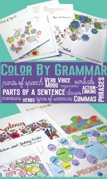 Color by grammar - bust away from boring grammar lesson plans. Study core concepts with these fun coloring ideas.