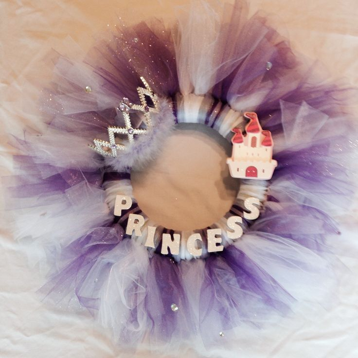 Purple Princess Wreath by KKPreciousGems on Etsy https://www.etsy.com/listing/240391071/purple-princess-wreath