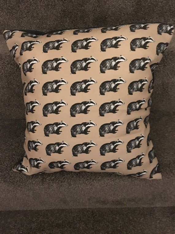 Badger cushion/ 16x16/ badger home decor by pinsandneedles121