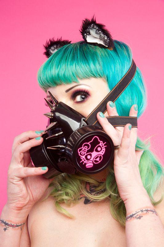 Hello Kitty Gas Mask - Lauren Rebelle