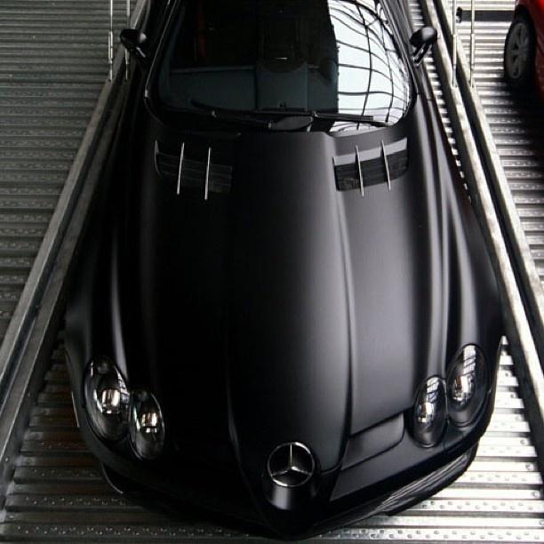 matte black mercedes slr mclaren cars motors pinterest. Black Bedroom Furniture Sets. Home Design Ideas