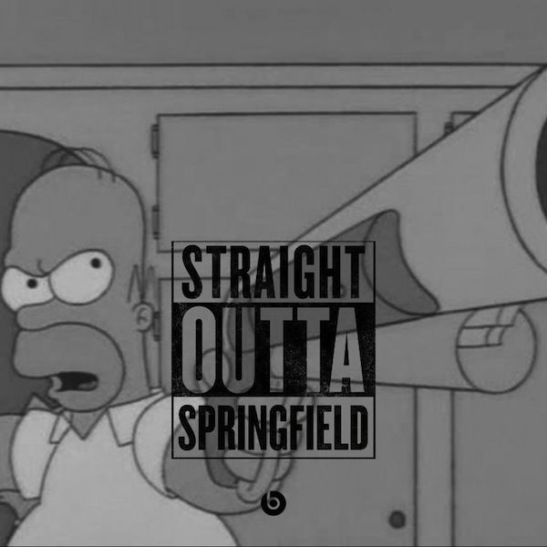 'The Simpsons' Meets 'Straight Outta Compton' Memes