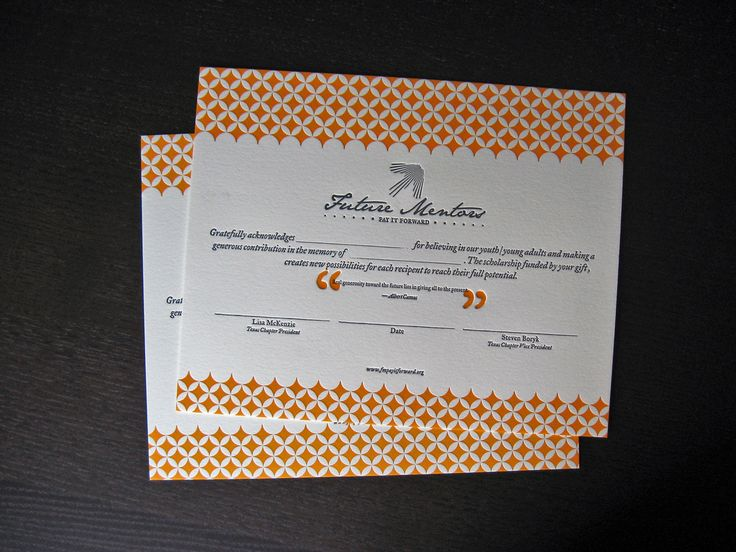 This takes certificate design to a new level. I love the pattern ... and I (obviously) love that it is letterpressed!