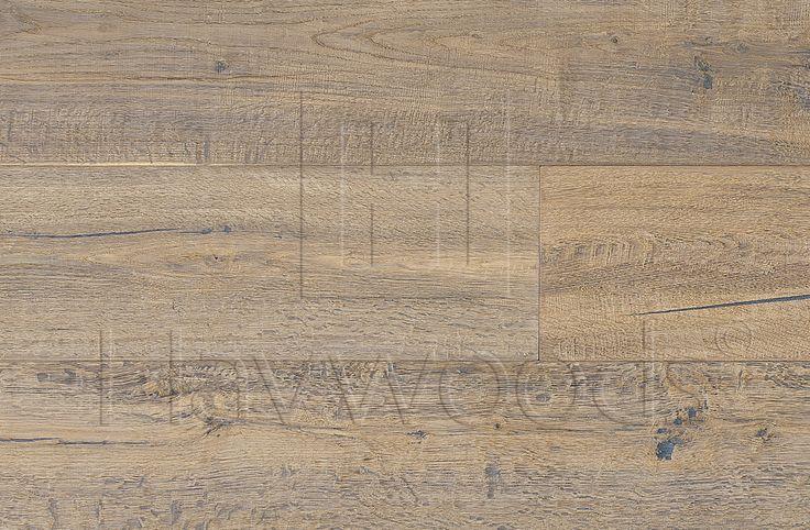 HW3320 Havwoods Exclusives Kahrs Oak Concrete Nature Oil Handscraped Brushed Bevelled Engineered Wood Flooring