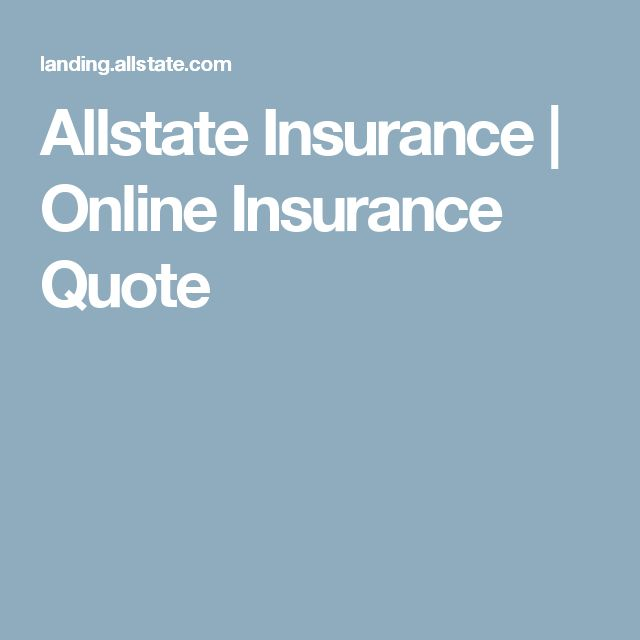 Allstate Insurance | Online Insurance Quote