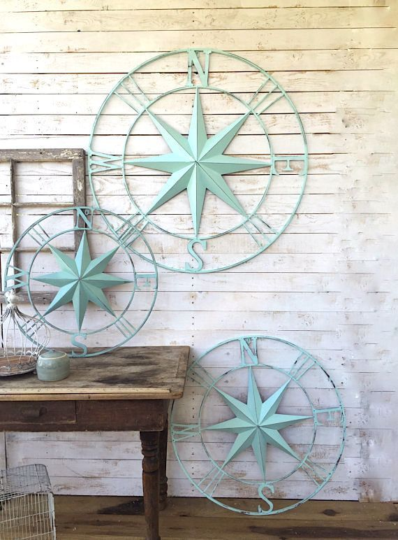 Nice Nautical Wall Decor, Metal Compass Wall Art, Nautical Wall Art, Nautical  Decor, Metal Wall Decor, Nautical Wall Art