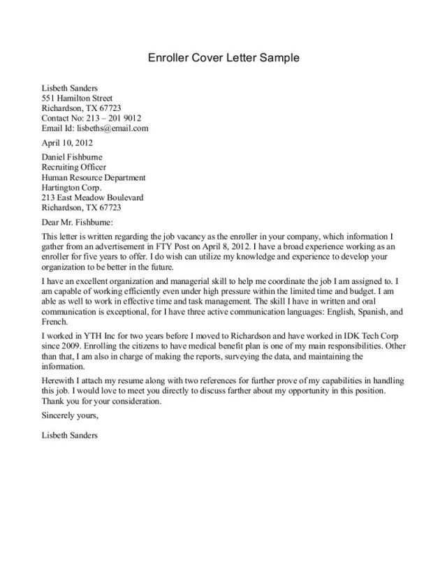 23+ Flight Attendant Cover Letter Cover Letter Resume Cover