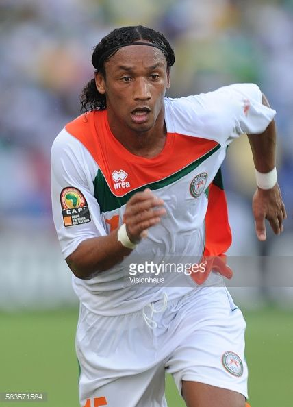 Sulliman Johan Mazadou of Niger during the 2012 African Cup of Nations Group C match between Gabon and Niger at the Stade de l'Amitie in Libreville...