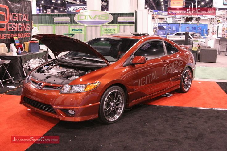 custom honda | Custom Honda Civic Si presented by Digital Design at 2007 SEMA - Las ...