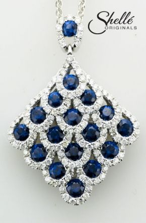 beautiful sapphires and diamonds
