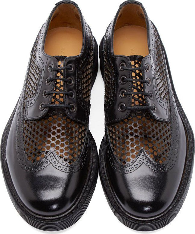 Marc Jacobs Black Perforated Brogues | shoes | Best shoes ...