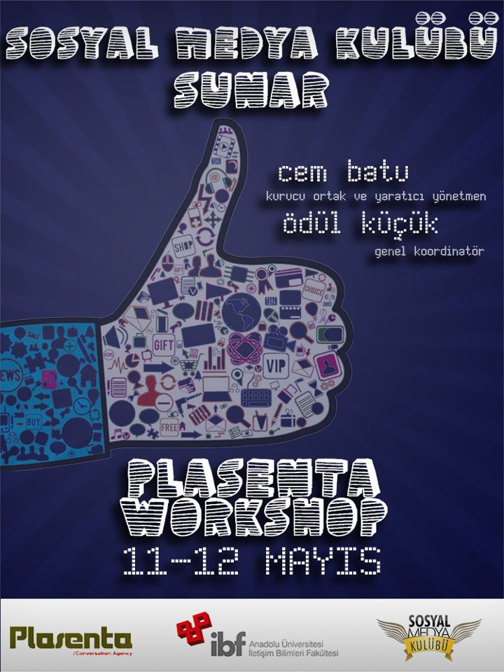 Plasenta Workshop için hazırladığım afiş.