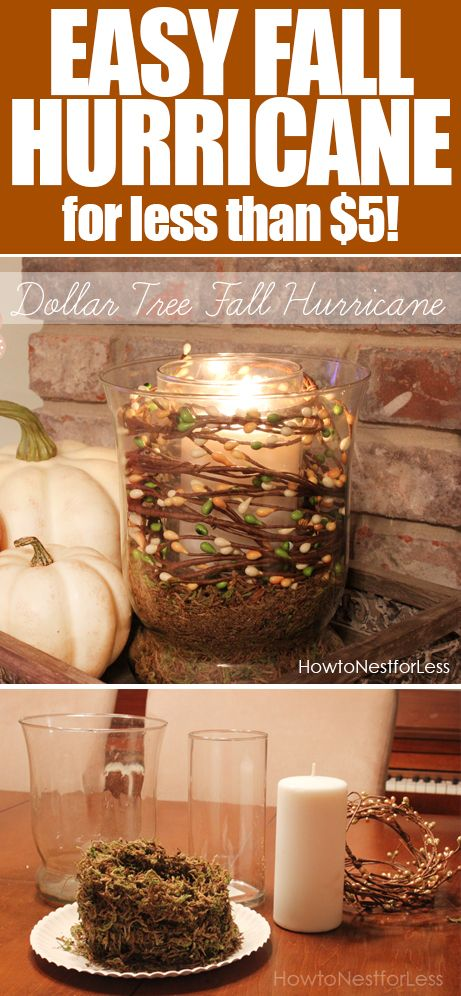 Cool Fall hurricane using items from the Dollar Store!