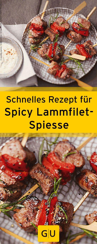 """Schnelles Rezept für Spicy Lammfilet-Spiesse aus dem Buch """"Fingerfood"""". ⎜GU"""