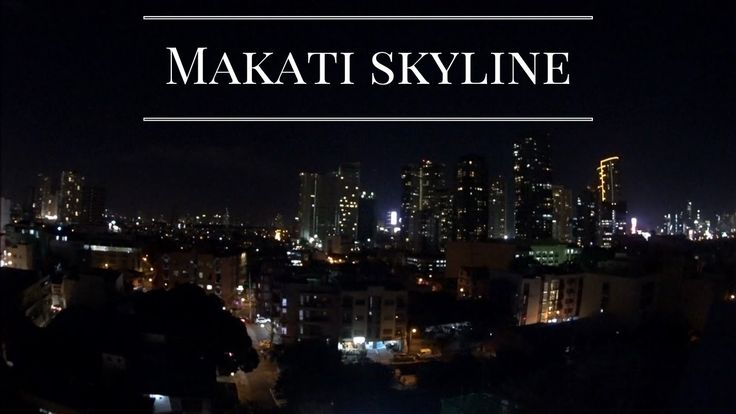Makati Skyline. Shot from a rooftop bar during my visit to Manila.