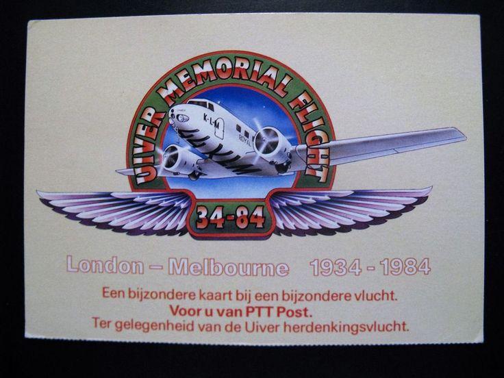 1984... KLM vlucht VIC 3045 Amsterdam-Melbourne...Uiver Memorial Flight...