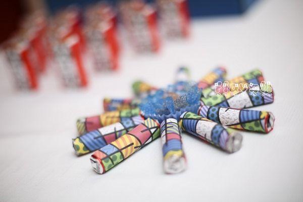 Chocolate Baton - Romero Britto  :: flavoli.net - Papelaria Personalizada :: Contato: (21) 98-836-0113 vendas@flavoli.net