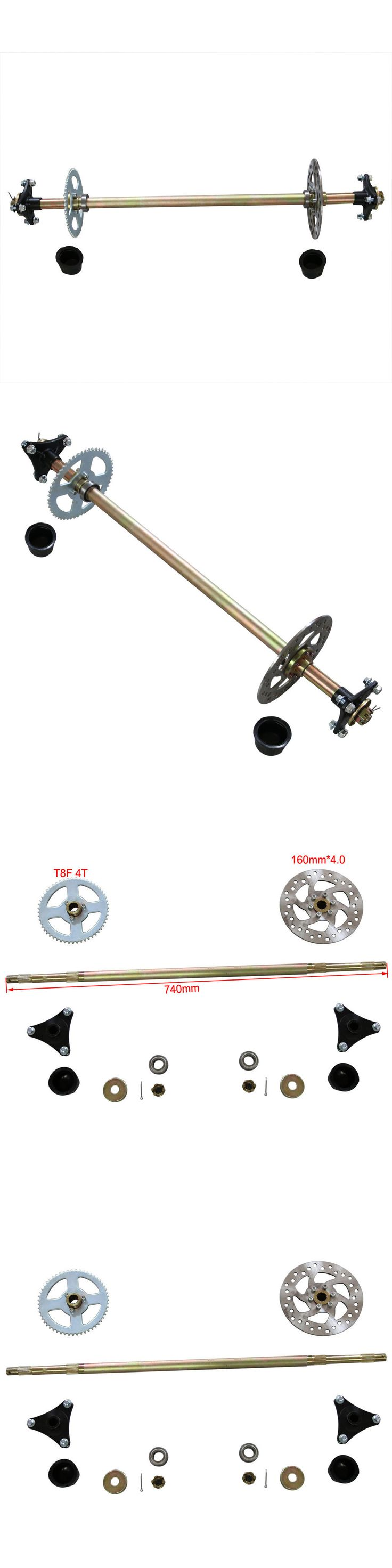 Parts and Accessories 64657: 740Mm 50 70 90 110Cc Atv Quad Bike Axle (Rear) Complete Assembly+Carrier Hub T8f -> BUY IT NOW ONLY: $99.99 on eBay!