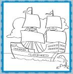 Mayflower Coloring Sheet and thanksgiving Song for Kids!