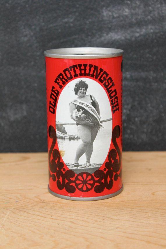 Vintage Red Olde Frothingslosh Beer Can by GatherAndDisperse, $4.00