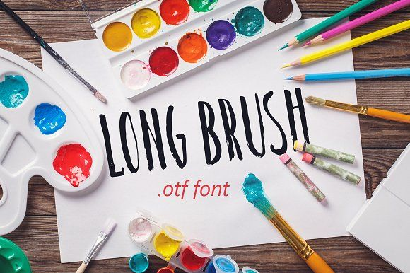 Long Brush Font By Photos And Some Fonts On Creativemarket
