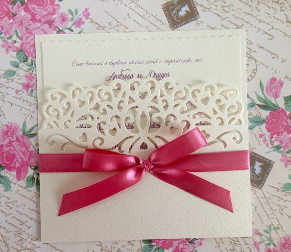 Elegant weeding invitations/ Handmade wedding invitations