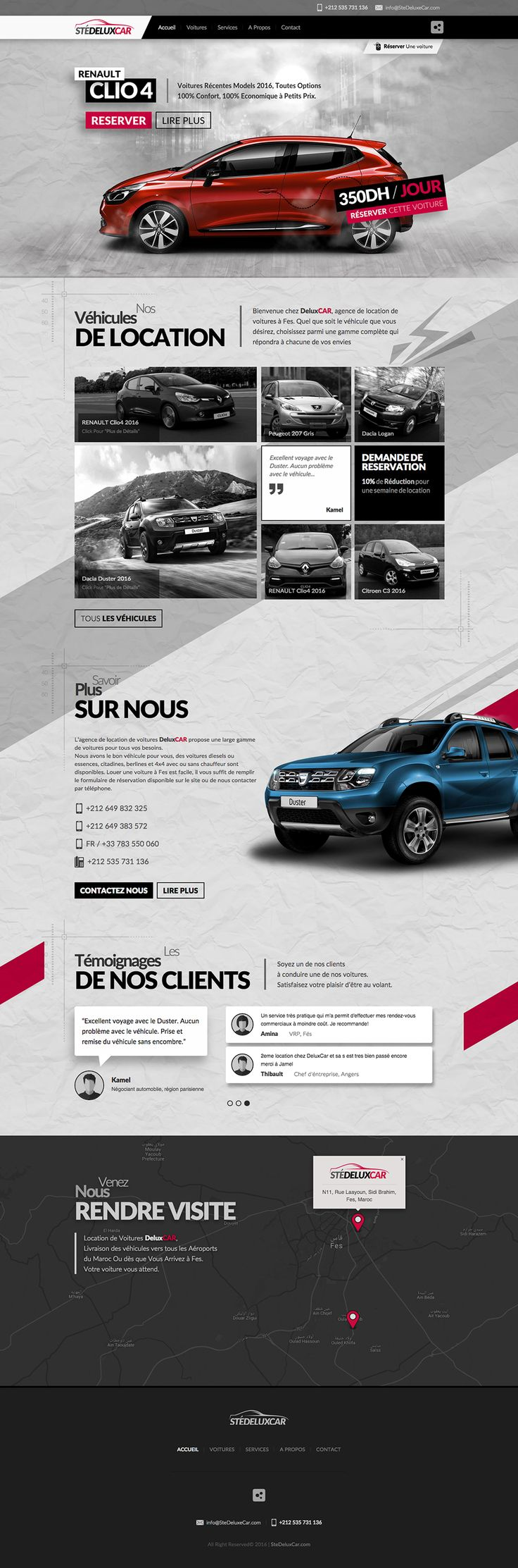 Responsive Website : Web Design & Development for a Rental Car company With an Attractive Revolution Parallax Slider #BlackRedWebDesign, #ResponsiveWebDesign, #RevolutionParallaxSliderDesign, #AttractiveWebDesign, #GreyWebDesign, #RentalCarWebDesign