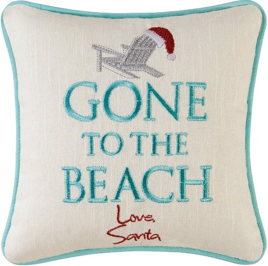 Santa Gone to the Beach Pillow... http://www.beachblissdesigns.com/2016/10/santa-gone-to-beach-pillow.html Beach Christmas Pinterest Board: https://www.pinterest.com/beachblissblog/beach-christmas/