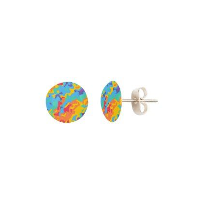 A beautiful rainbow stud earrings - jewelry jewellery unique special diy gift present