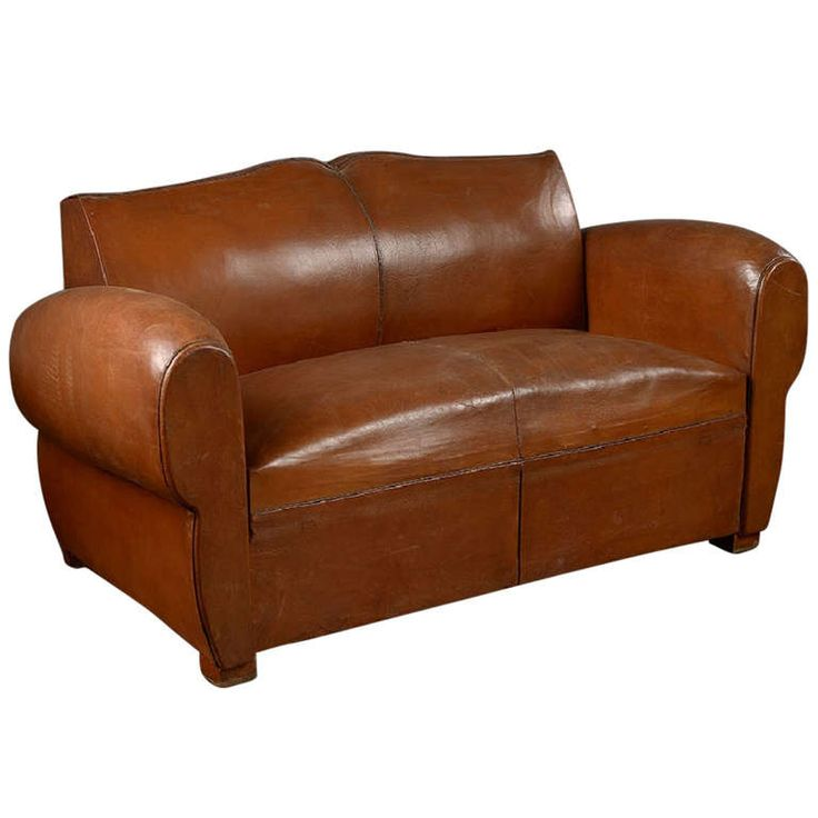 Antique French Mustache Back Leather Loveseat | From a unique collection of antique and modern sofas at https://www.1stdibs.com/furniture/seating/sofas/