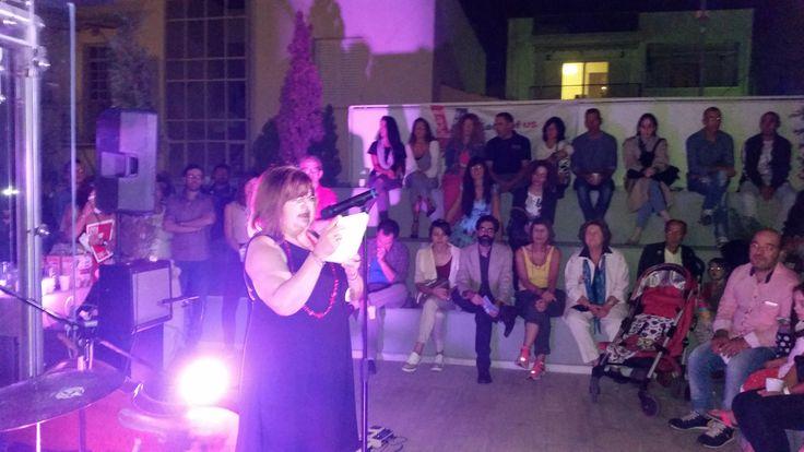 "Festival Opening 1/10/2016 @Bouziani Museum  President of the Board of the coordinating organization K.S.D.E.O. ""EDRA"", mrs. Maria Kerasoglou"