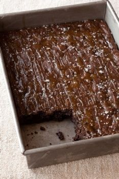 Probably the 3rd time I've pinned a version of this recipe!!  Barefoot Contessa - Recipes - Salted Caramel Brownies