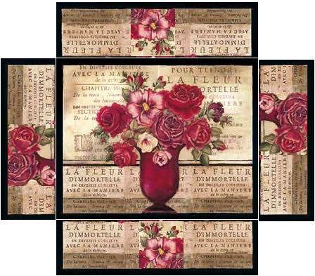 Boite rectangulaire bouquet rouge création Pascale Appiani