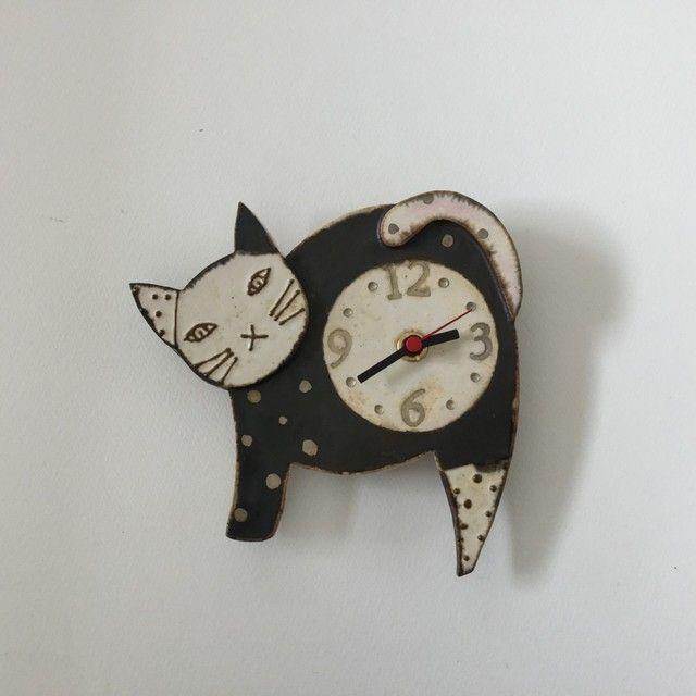 ねこ 掛け時計 Sachiyo Yajima