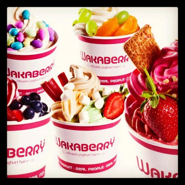 The endless flavour opportunities of Wakaberry Frozen Yogurt...